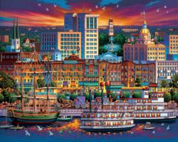 Savannah Americana & Folk Art Jigsaw Puzzle
