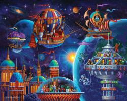 Space Adventure Sci-fi Jigsaw Puzzle