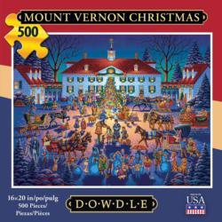 Mount Vernon Christmas Americana & Folk Art Jigsaw Puzzle