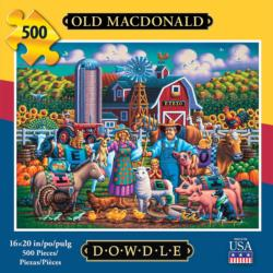 Old MacDonald Americana & Folk Art Jigsaw Puzzle