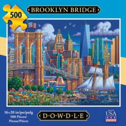 Brooklyn Bridge Americana & Folk Art Jigsaw Puzzle