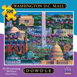 Washington DC Mall Americana & Folk Art Jigsaw Puzzle