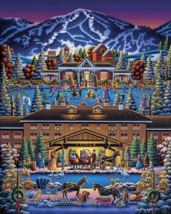 Sun Valley Holiday Christmas Jigsaw Puzzle
