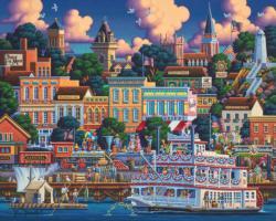 Mark Twain's Hannibal Americana & Folk Art Jigsaw Puzzle