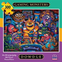 Gaming Monsters Family Fun Jigsaw Puzzle