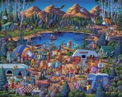 Camping Adventure Lakes / Rivers / Streams Jigsaw Puzzle
