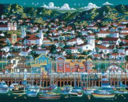 Santa Barbara Folk Art Jigsaw Puzzle
