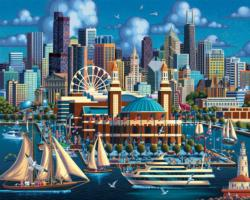 Chicago Navy Pier Chicago Jigsaw Puzzle