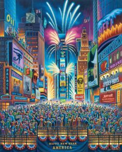 Times Square Americana & Folk Art Jigsaw Puzzle