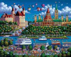Ottawa River Americana & Folk Art Jigsaw Puzzle