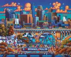 Minneapolis Americana & Folk Art Jigsaw Puzzle