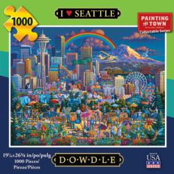 I Love Seattle Americana & Folk Art Jigsaw Puzzle