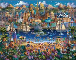 World Pieces Collage Jigsaw Puzzle