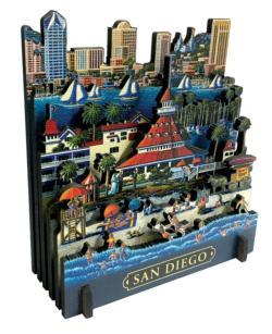 San Diego California 3D Puzzle