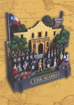 The Alamo Landmarks / Monuments 3D Puzzle