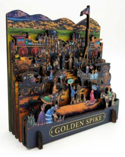 Golden Spike Americana & Folk Art 3D Puzzle