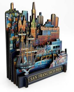 San Francisco Pier Seascape / Coastal Living 3D Puzzle
