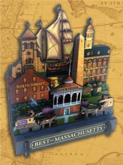 Best of Massachusetts Cities 3D Puzzle