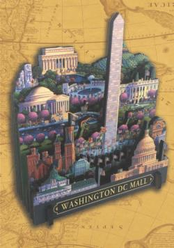 Washington D.C. Mall Landmarks / Monuments 3D Puzzle