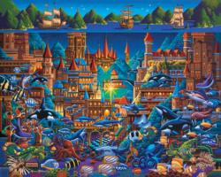 Atlantis Under The Sea Jigsaw Puzzle