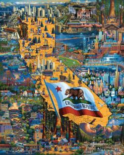 Best of Northern California California Jigsaw Puzzle