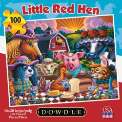 Little Red Hen Americana & Folk Art Jigsaw Puzzle
