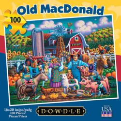 Old MacDonald - Scratch and Dent Americana & Folk Art Jigsaw Puzzle