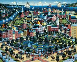 Boston Common Boston Jigsaw Puzzle