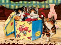 Hat Box Kittens Jigsaw Puzzle