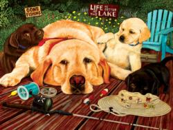 Life is Better at the Lake Fishing Jigsaw Puzzle