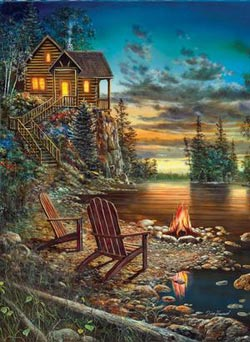 Summer Pleasures Lakes / Rivers / Streams Jigsaw Puzzle