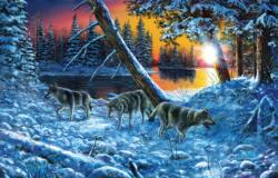 On the Prowl Wolves Jigsaw Puzzle