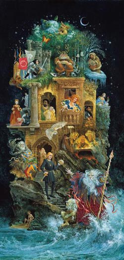 Shakespearean Fantasy Contemporary & Modern Art Panoramic Puzzle