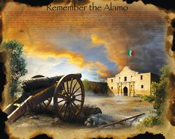 Remember the Alamo Mexico Large Piece