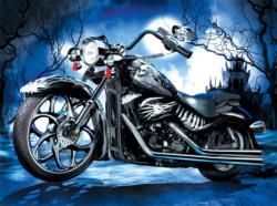 Skeleton Ride Motorcycles Jigsaw Puzzle