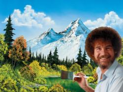 Bob Ross Painting Landscape Jigsaw Puzzle