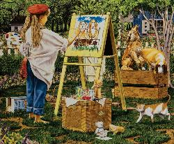 The Little Artist Quilting & Crafts Jigsaw Puzzle
