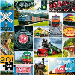 Trains! Collage Jigsaw Puzzle