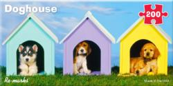 Doghouse Pano Dogs Panoramic Puzzle