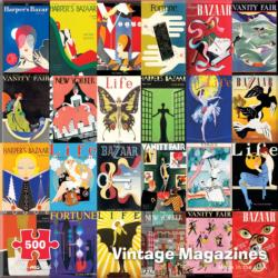 Vintage Magazine Collage Jigsaw Puzzle