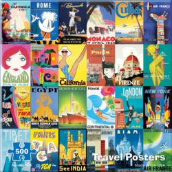 Travel Posters Collage Jigsaw Puzzle