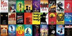 Broadway Musicals Collage Panoramic Puzzle
