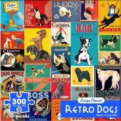 Retro Dogs Collage Large Piece