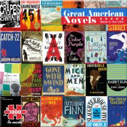 Great American Novels - Scratch and Dent Collage Jigsaw Puzzle