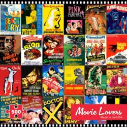 Movie Lovers Collage Jigsaw Puzzle