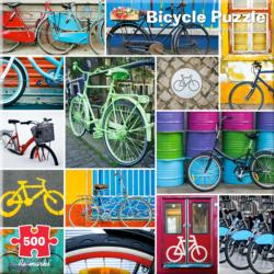 Bike II Collage Collage Jigsaw Puzzle