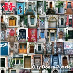 City Door Collage Everyday Objects Jigsaw Puzzle