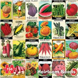 Heirloom Seeds Collage Jigsaw Puzzle