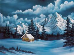Winter:  Joy of Puzzles with Bob Ross Winter Jigsaw Puzzle
