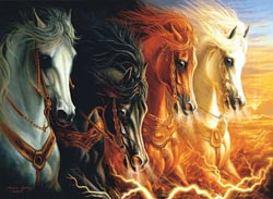 Four Horses of the Apocalypse Horses Jigsaw Puzzle